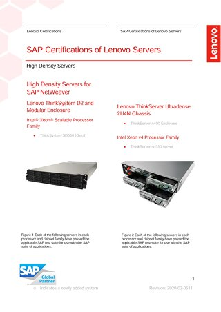 High-Density SAP Certifications