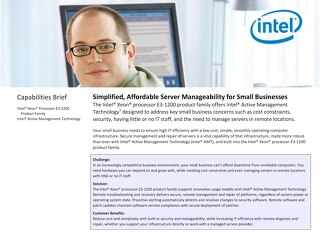 ThinkServer Active Management Technology for Small Businesses