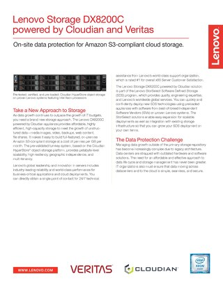 Lenovo Storage DX8200C powered by Cloudian and Veritas