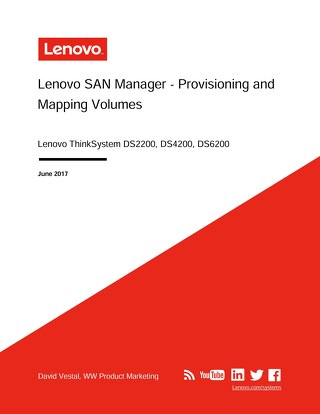 ThinkSystem DS Series Provisioning and Mapping Volumes User Guide