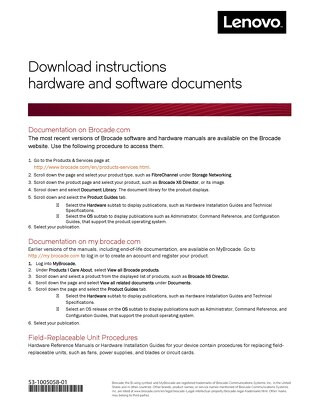 FC Gen 6 - Hardware-Software Documents Guide
