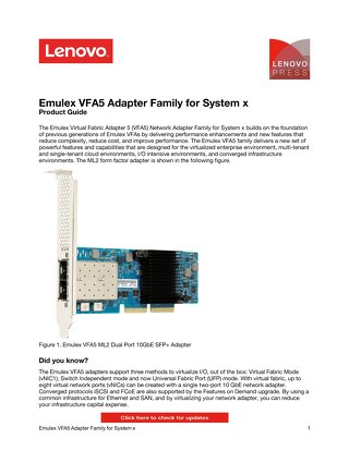 Emulex Virtual Fabric Adapter 5 Family