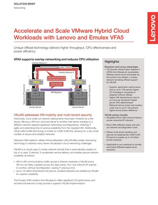 Accelerate and Scale VMware Hybrid Cloud Workloads with Lenovo and Emulex VFA5
