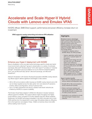 Accelerate and Scale Hyper-V Hybrid Clouds with Lenovo and Emulex VFA5