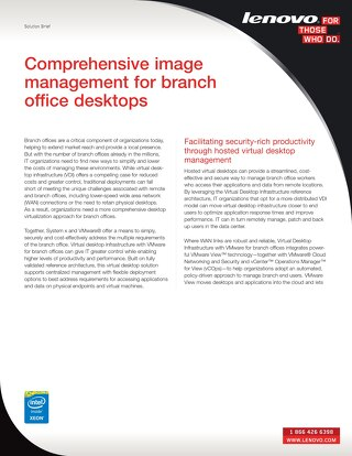 Comprehensive Image Management for Branch Office Desktops