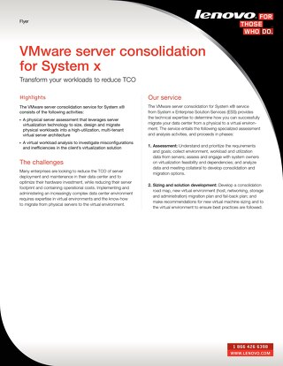 VMware server consolidation for System x