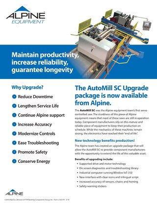 AutoMill SC Upgrade Package