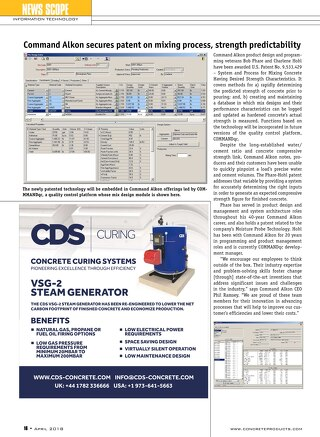 Command Alkon's Charlene Hohl and Bob Phare featured in Concrete Products for Latest QC Patent