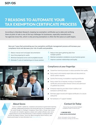 7 Reasons to Automate Your Tax Exemption Certificate Process_Brief