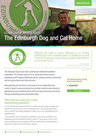 Edinburgh Dog and Cat Home | eTapestry