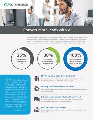 Convert more leads with AI