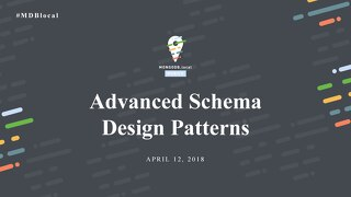 Advanced Schema Design
