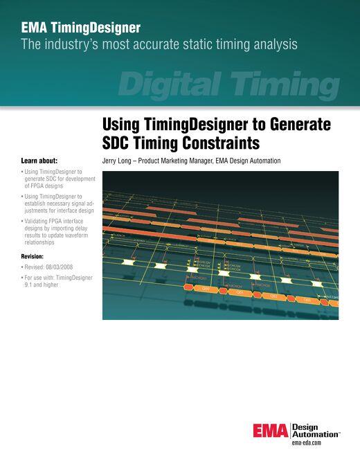 Using TimingDesigner to Generate SDC Timing Constraints