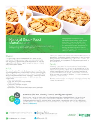 Snack Foods Manufacturer Bags Millions in Energy Savings