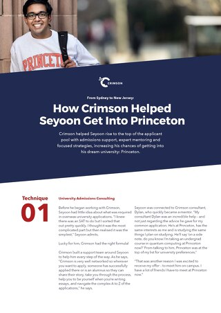 Case Study Part 2: How Crimson Helped Seyoon Ragavan