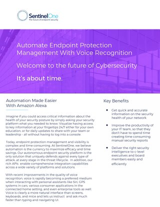 Automate Endpoint Protection Management With Voice Recognition