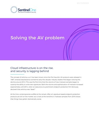 Solving the AV Problem