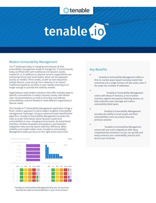 Tenable Vulnerability Management