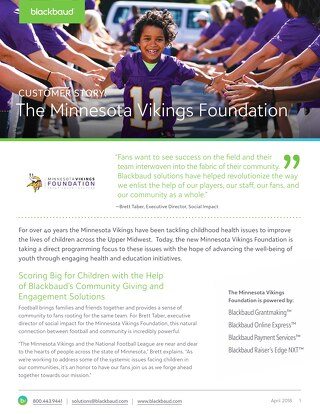 Customer Spotlight: The Minnesota Vikings Foundation