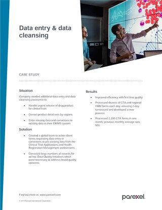 Case Study: Data Entry and Data Cleansing Word doc
