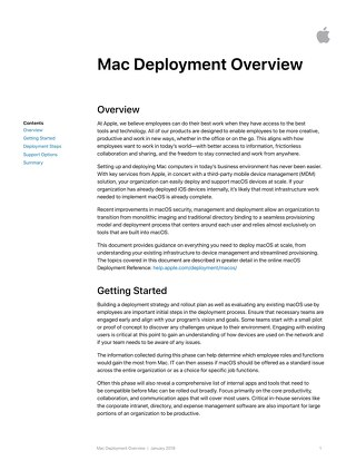 Mac Deployment Overview