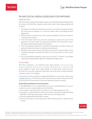 PR and Social Guidelines for Partners