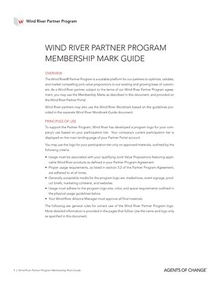 Wind River Partner Program Brand Guideline