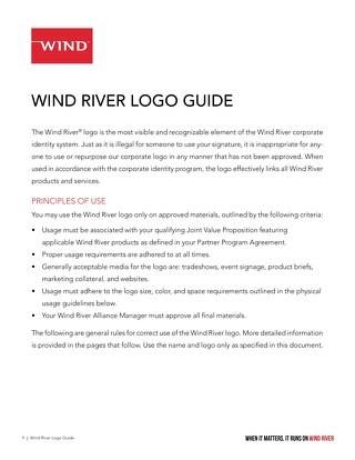 Wind River Logo Guide