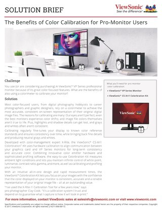 The Benefits of Color Calibration for Pro-Monitor Users