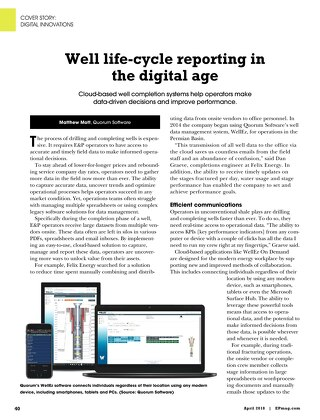 Well Lifecycle Reporting in the Digital Age