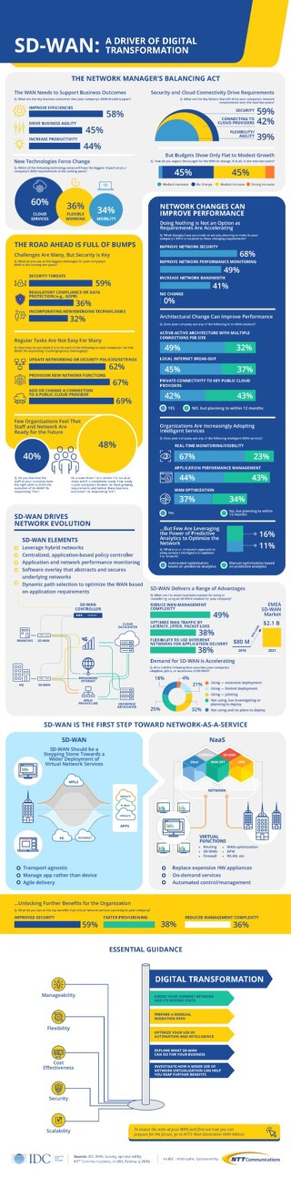 IDC InfoGraphic - 2018: SD-WAN A Driver of Digital Transformation