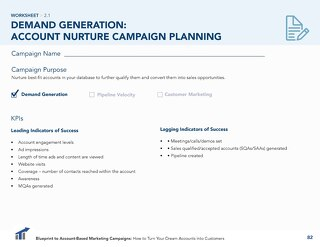 [Worksheet] Account Nurture ABM Campaign