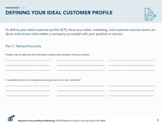 [Worksheet] Define Your Ideal Customer Profile