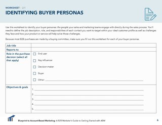 [Worksheet] Identify Your Buyer Personas