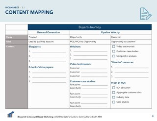 [Worksheet] Content Mapping for the Customer Lifecycle