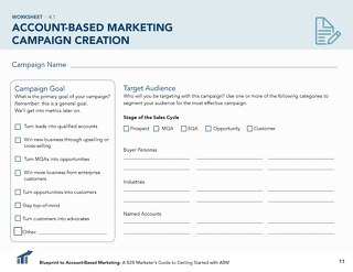 [Worksheet] ABM Campaign Planning