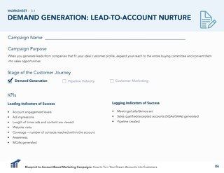 [Worksheet] Lead-to-Account Nurture ABM Campaign
