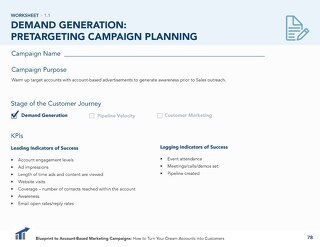[Worksheet] Pretargeting ABM Campaign