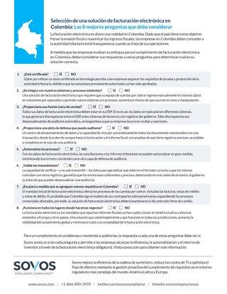 Tipsheet: Facturación Electrónica para Colombia