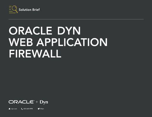 Solution Brief: Oracle Dyn WAF