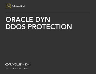 Solution Brief: Oracle Dyn DDoS Protection