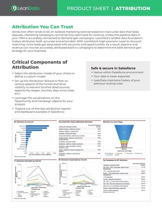 Attribution Datasheet
