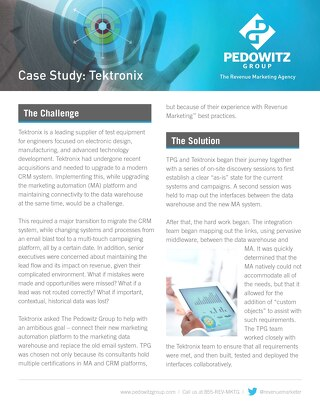 Tektronix Case Study