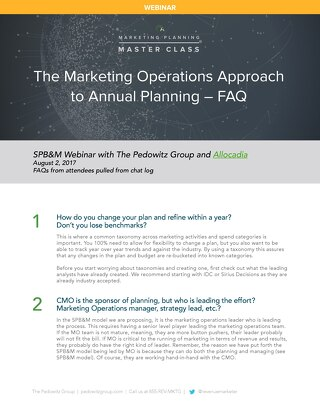 Webinar Slides: The Marketing Operations Approach to Planning
