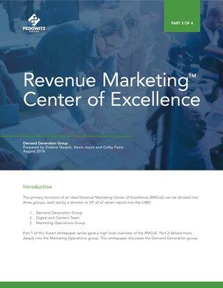 Part 3: Revenue Marketing Center of Excellence – Demand Generation Group
