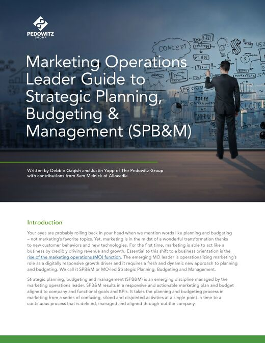 Marketing Operations Leader Guide to Strategic Planning, Budgeting & Management
