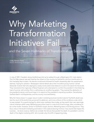 7 Hallmarks of Successful Marketing Transformation