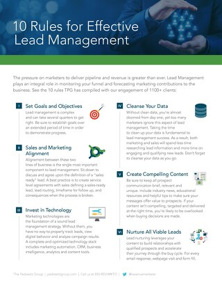 10 Rules for Effective Lead Management