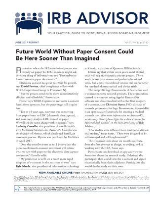 Future World Without Paper Consent Could Be Here Sooner Than Imagined
