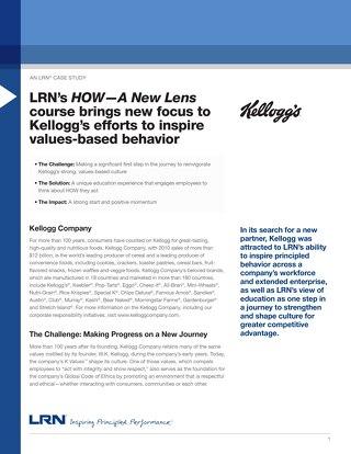 LRN Case Study: Kelloggs